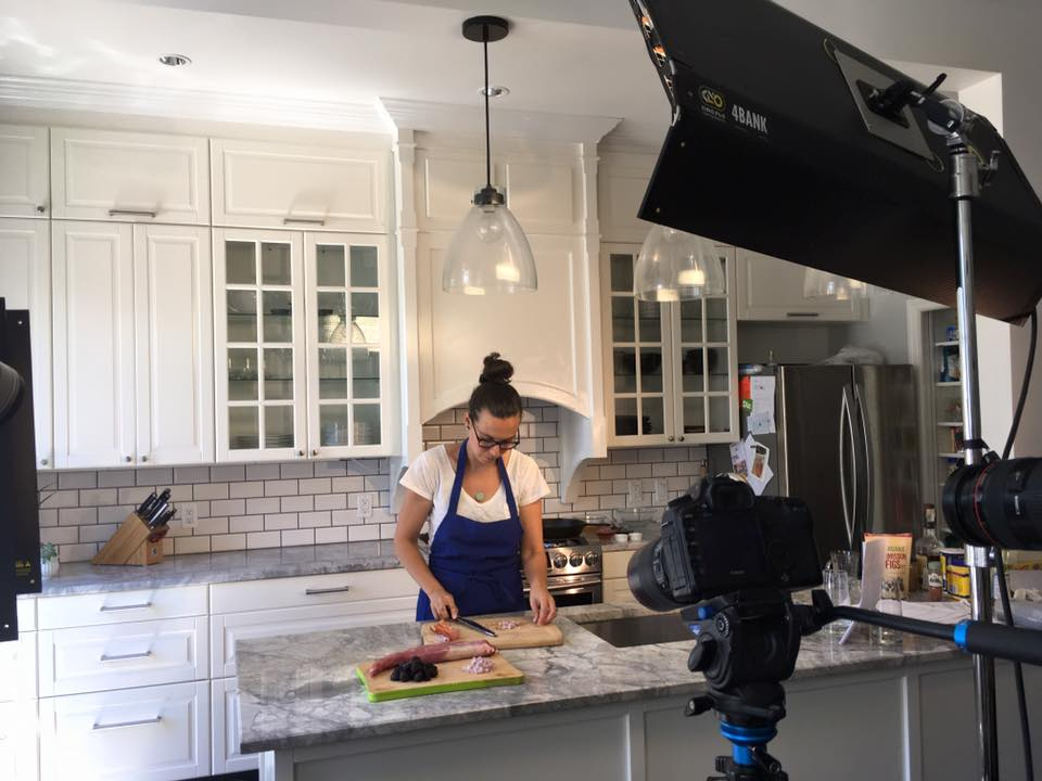 Katherine Martinelli in the kitchen
