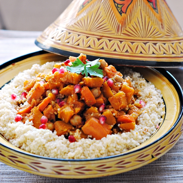 Butternut Squash, Sweet Potato, and Chickpea Tagine