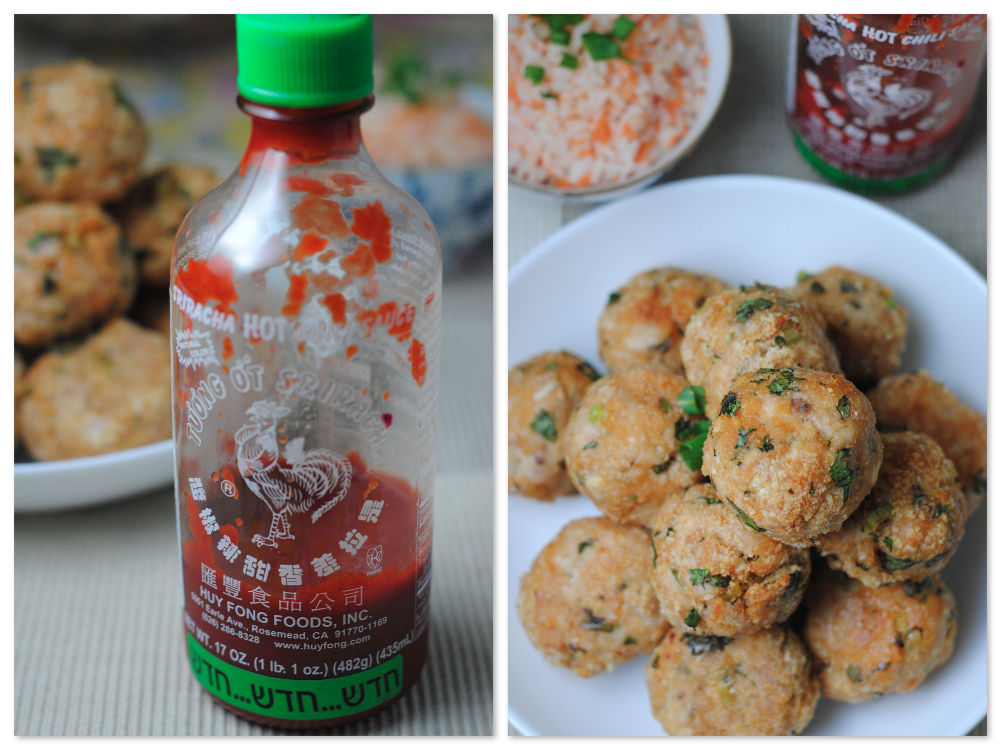 Sriracha Turkey Meatballs