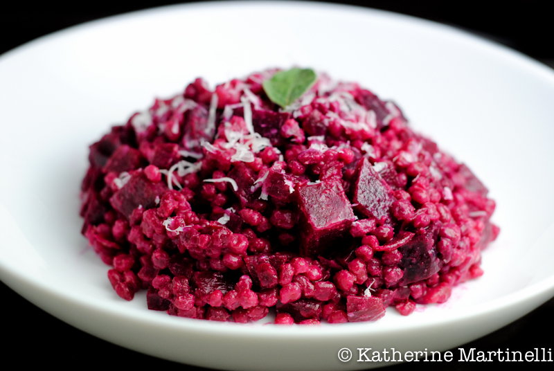 Red Beet and Barley Risotto