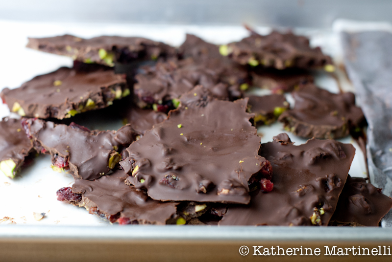 Chocolate Cherry Pistachio Bark