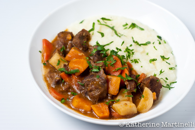 Irish Beef Stew with Daikon Radish Puree