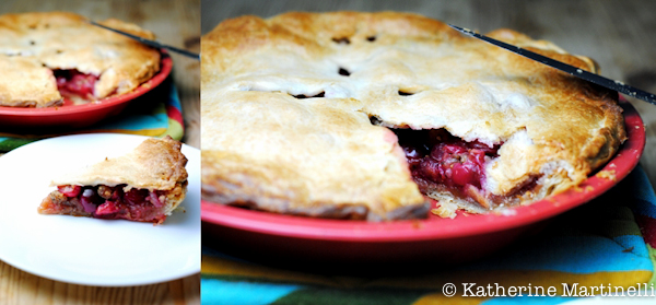 Sour Cherry and Mulberry Pie
