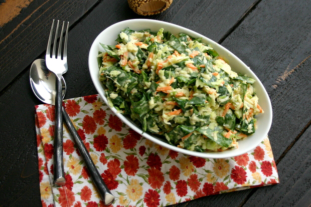 Collard Slaw from Everyday Maven