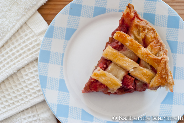 Strawberry-Rhubarb Pie from KatherineMartinelli.com
