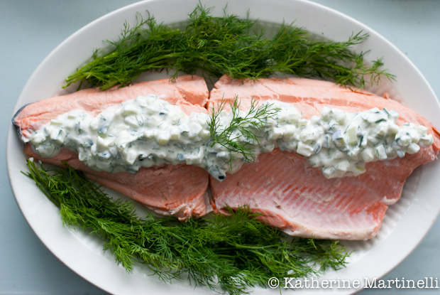 Julia Child S Poached Salmon With Cuber Sauce