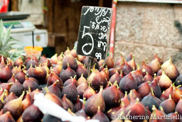 Fig season in Israel - Mahane Yehuda Market