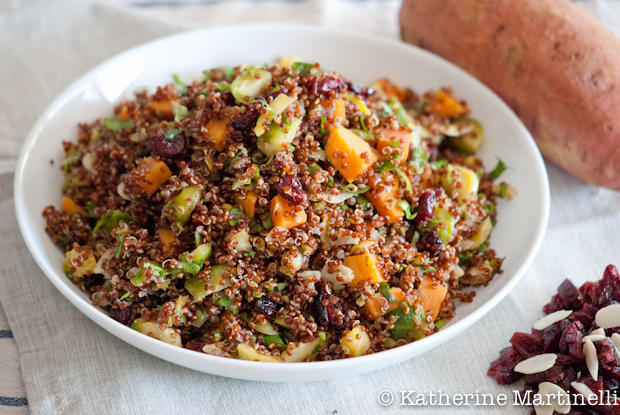 Quinoa Salad with Shaved Brussels Sprouts