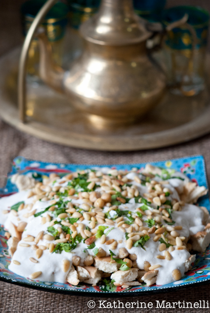 Fatteh - Pita with Chickpeas and Yogurt