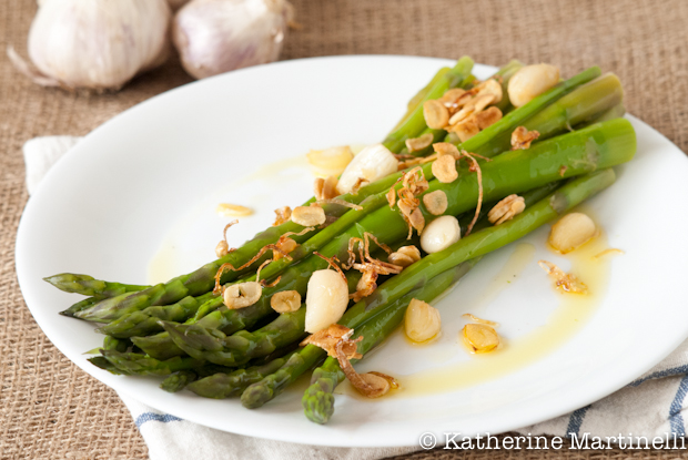 Asparagus with Garlic Two Ways