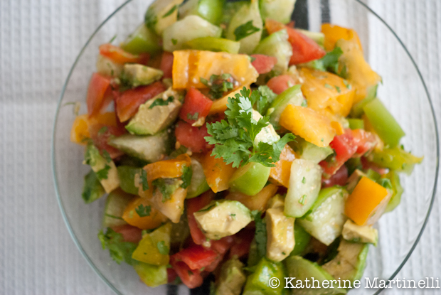 Tomato, Tomatillo, and Avocado Salad